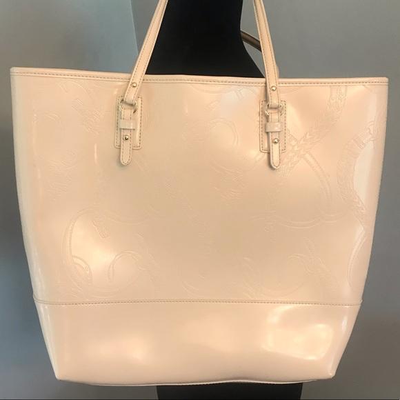 Lauren Ralph Lauren Handbags - Ralph Lauren 100% leather Equestrian Patent Tote